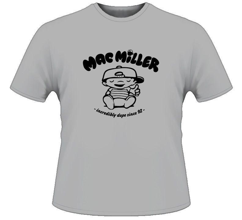 Mac Miller Cartoon Parody Rap Hip Hop T Shirt
