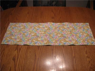 Quilted Table Runner Easter Bunnies Eggs Rabbit