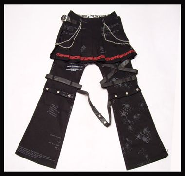 Lolita Kera VISUAL KEI PUNK GOTHIC Pants skirt EMO NAna