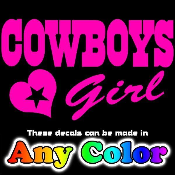 Pink Cowboys Star Logo Car Truck Decal Window Sticker