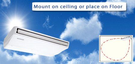 Ceiling Suspended Ductless Mini Split Air Conditioner Heat Pump  Dual