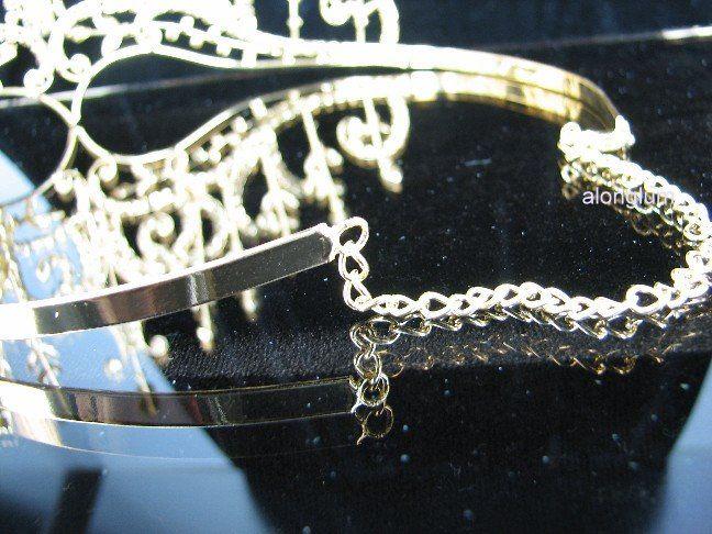 A175 2 Gold Wedding Bridal Bridesmaid Prom Sparkling Swarovski Crystal